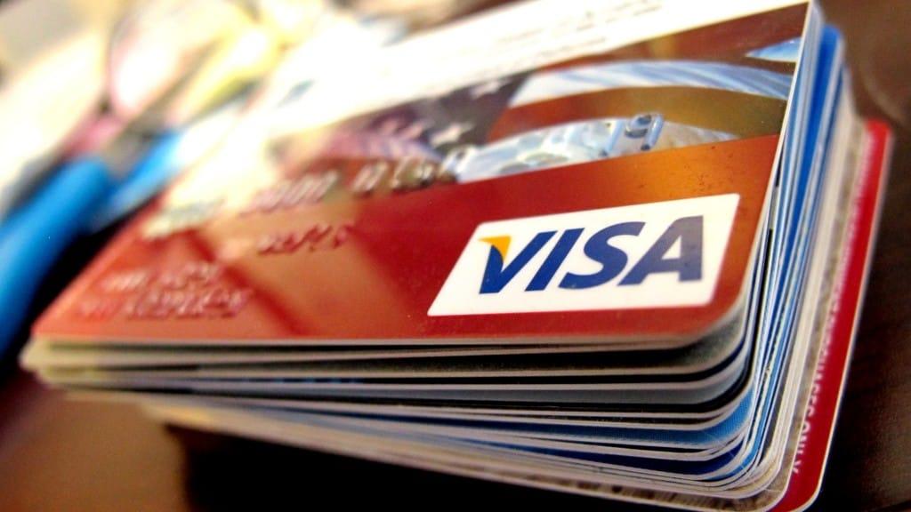 cartões de crédito visa agrupados