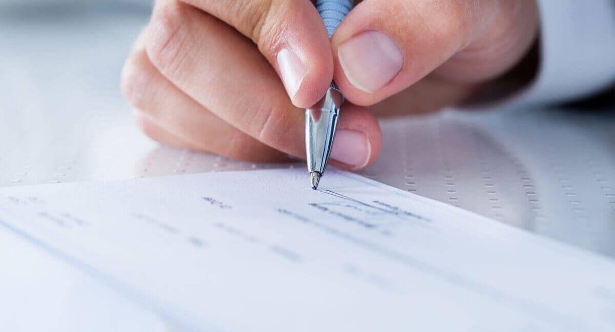 assinatura de um documento
