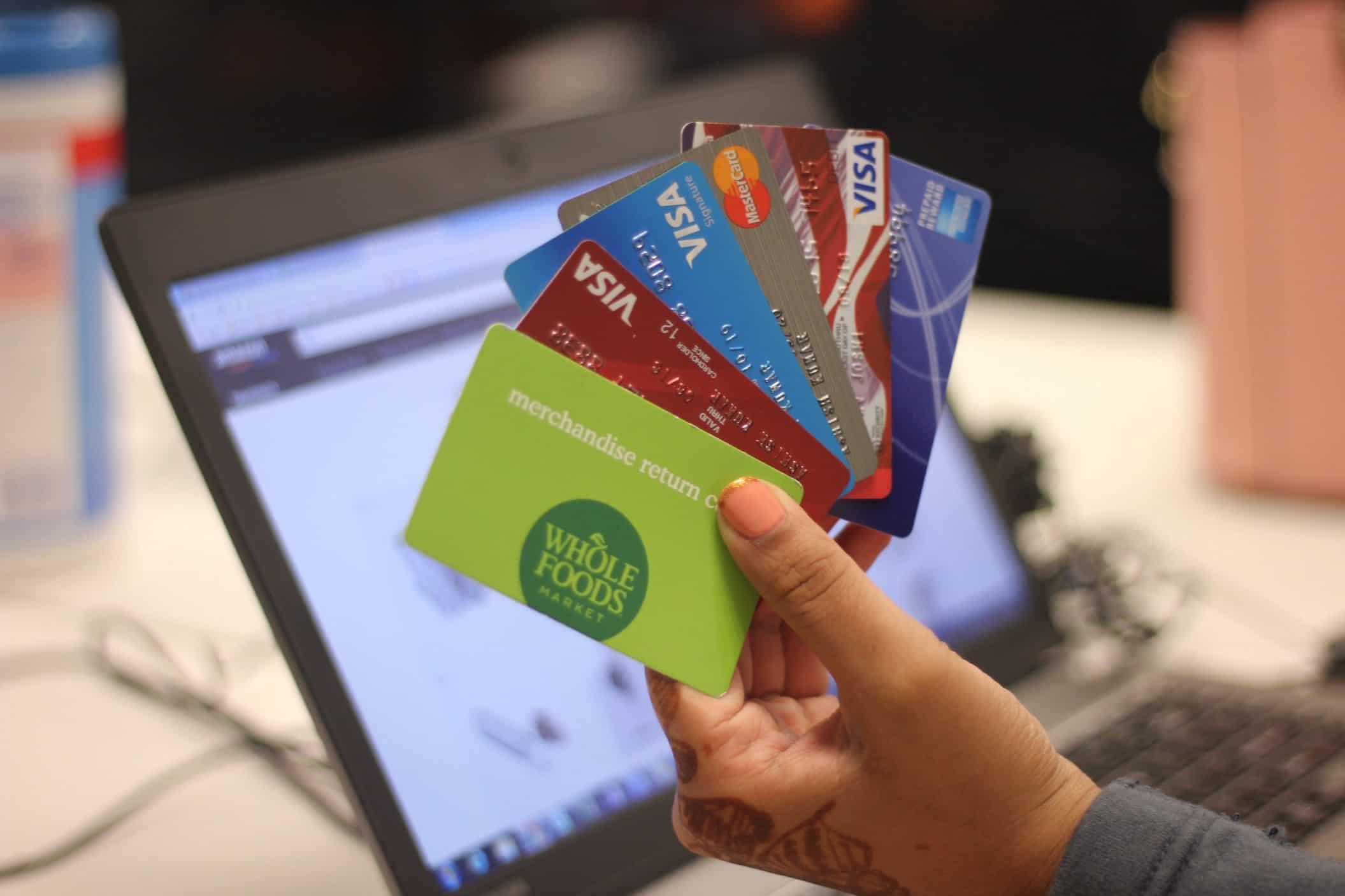 Cartões de crédito pagamentos