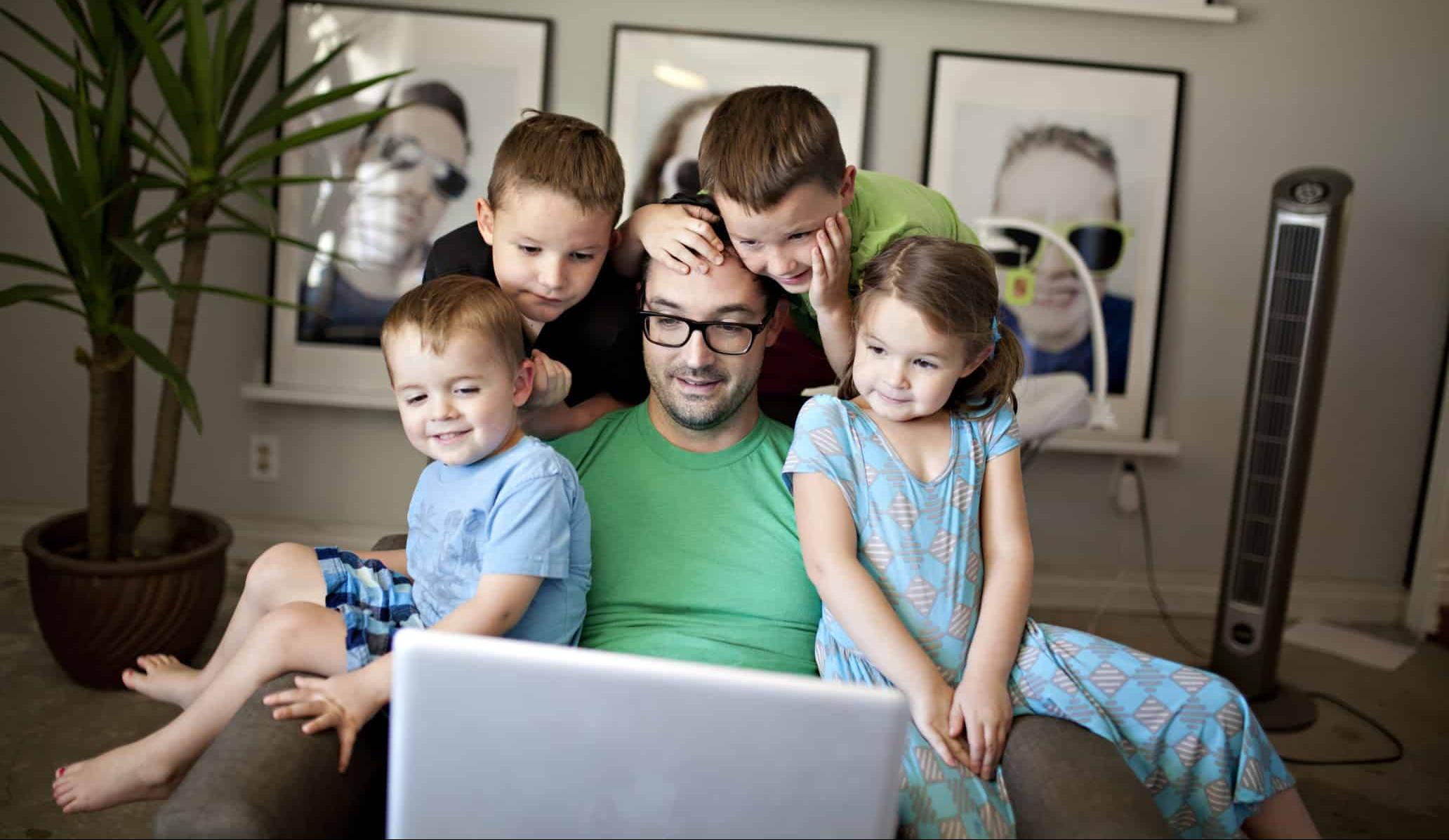 pai e filhos família